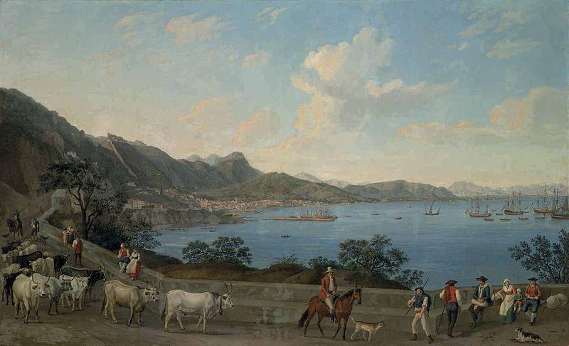 Salernostory - The Port of Salerno di Jakob Hackert