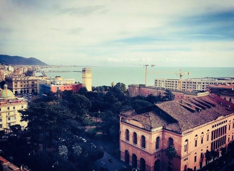 Salerno, panorama da via Madonna del Monte
